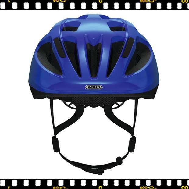 abus smooty kék kerékpáros bukósisak előről