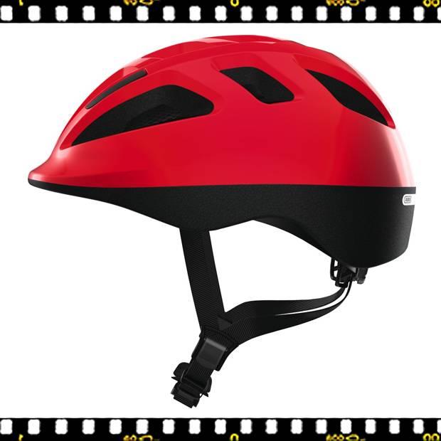 abus smooty piros kerékpáros bukósisak oldalról