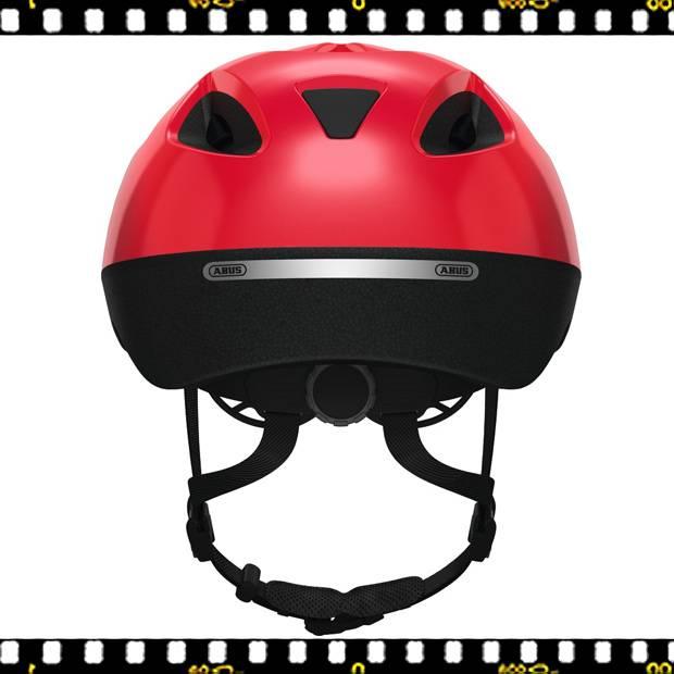 abus smooty piros kerékpáros bukósisak hátulról