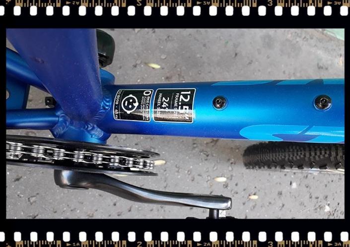 stevens beat kék mtb gyerek kerekpár 24-es váz méret