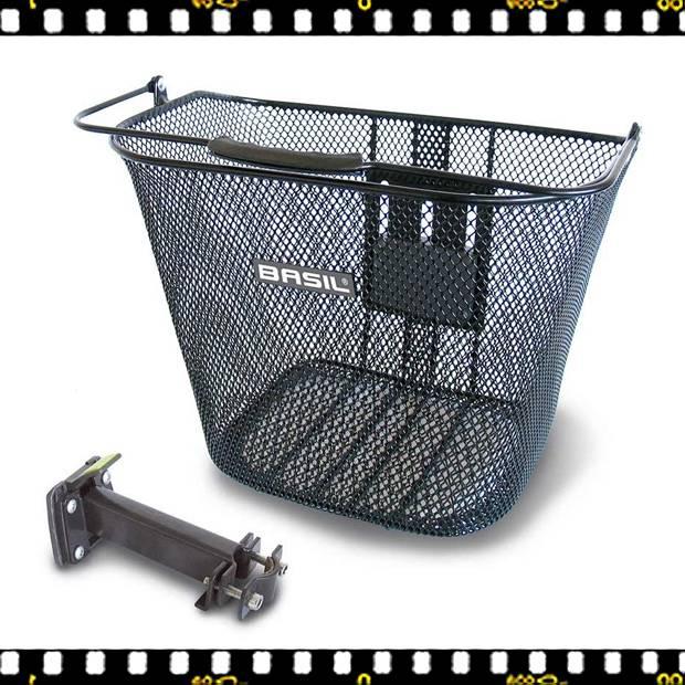 basil bremen első kerékpáros fém kosár