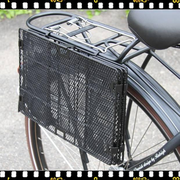 basil catania összecsukható hátsó biciklis kosár összecsukva