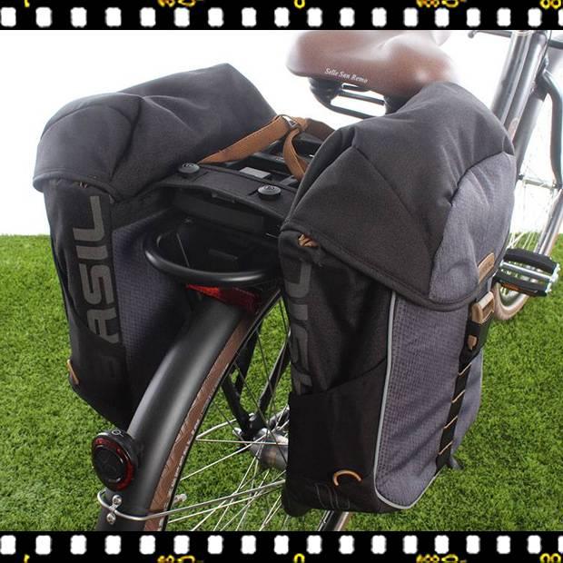 basil miles dupla kerékpáros táska csomagtartón