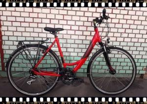 stevens albis forma piros női trekking kerékpár