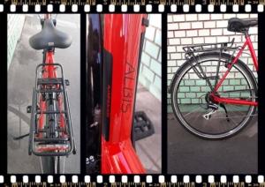 stevens albis forma piros női trekking kerékpár váz