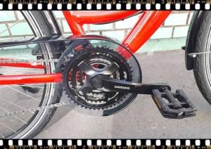 stevens albis forma piros női trekking kerékpár hajtókar