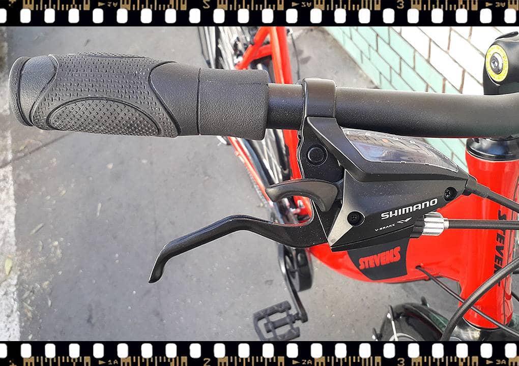 stevens albis forma piros női trekking kerékpár hátsó váltókar