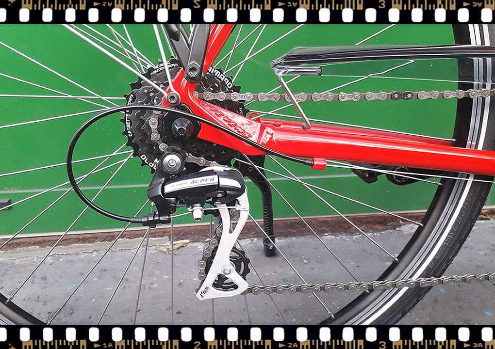 stevens albis piros női trekking kerékpár acera váltó