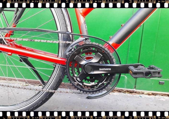stevens albis piros női trekking kerékpár hajtómű