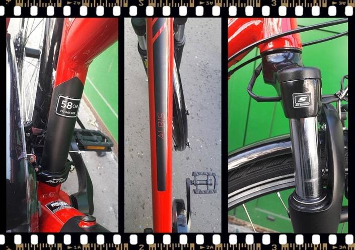 stevens albis piros női trekking kerékpár váz méret