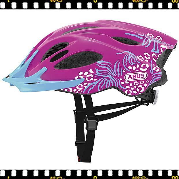 abus arica pink női fitness kerekpáros bukósisak oldalt