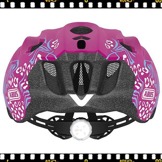 abus arica pink női fitness kerekpáros bukósisak hátul