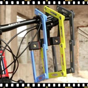 abus bordo 5700 kék hajtogatható kerékpárlakat lezárva