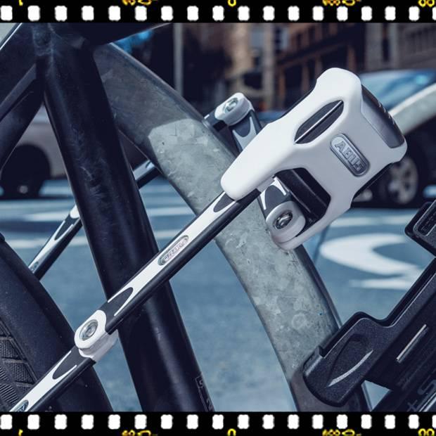 abus bordo 6000 alarm kerékpár lakat fehér lecsatolva