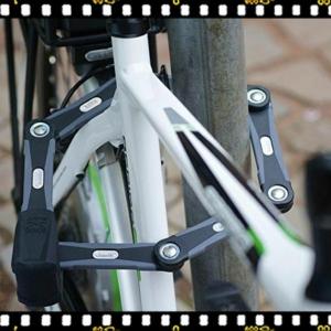 abus bordo 6000 alarm fekete kerékpár lakat lecsatolva