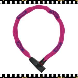 abus catena 6086 75 cm-es kerékpár lakat pink