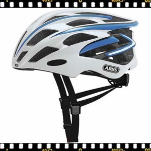 abus s-force pro fehér-kék kerékpáros bukósisak