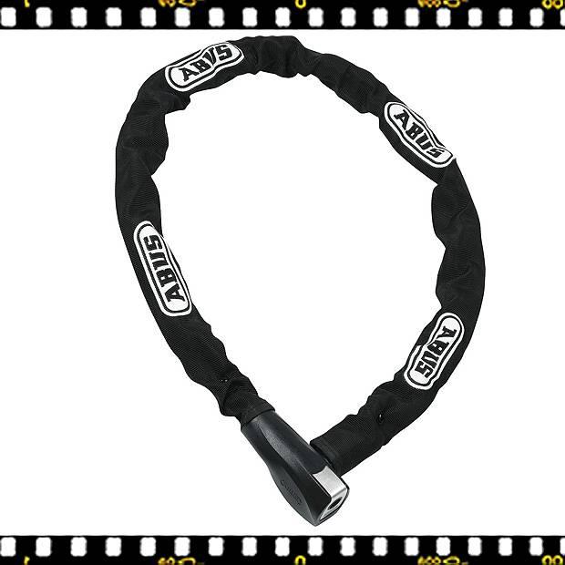 abus steel-o-chain kerékpár lakat fekete