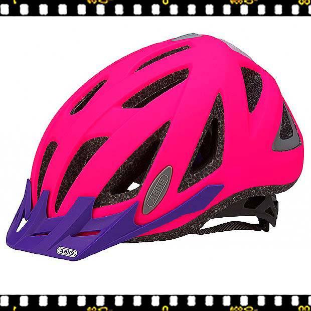 abus urban neon pink kerékpáros bukósisak oldalt