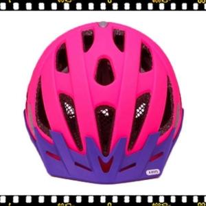 abus urban neon pink kerékpáros bukósisak elöl