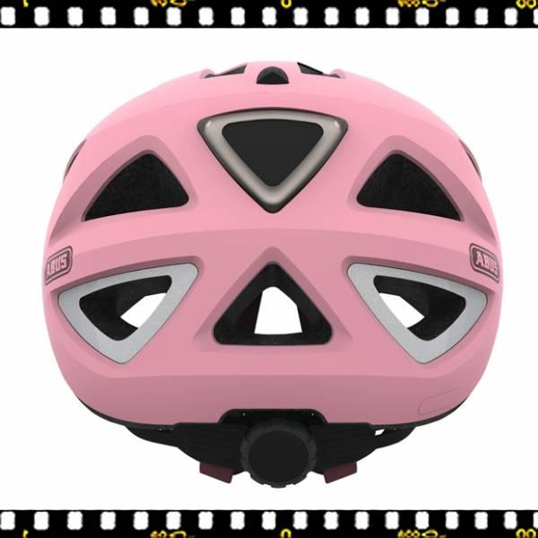 abus urban-i 2.0 pink kerékpáros bukósisak hátul