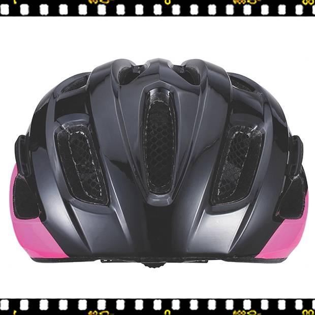 bbb kite bhe-29 fekete pink kerékpáros bukósisak elöl