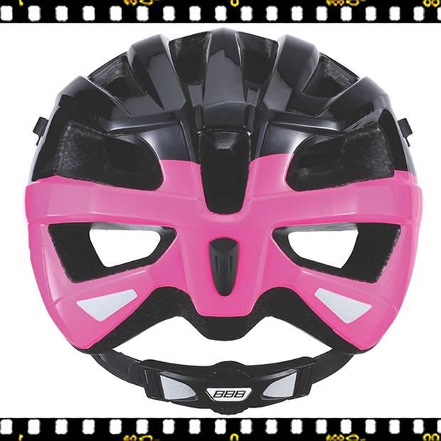 bbb kite bhe-29 fekete pink kerékpáros bukósisak hátul
