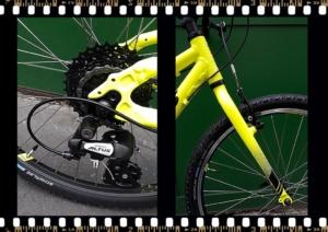 stevens beat mtb junior kerékpár sárga első villa