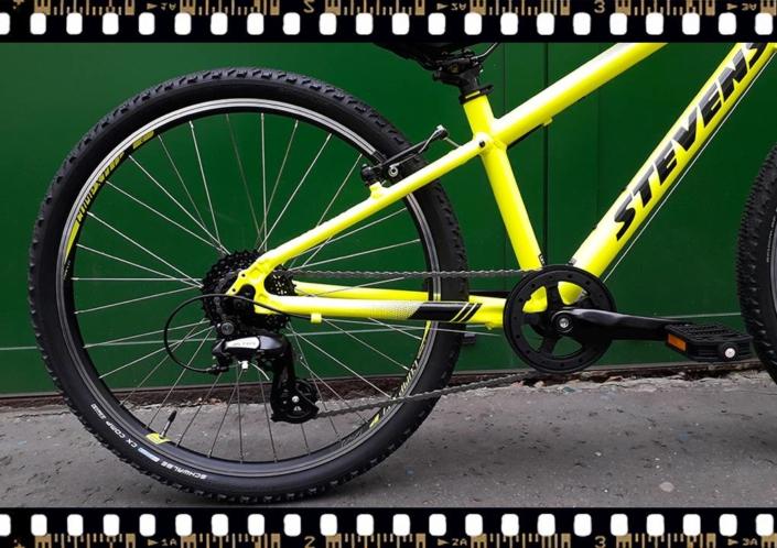stevens beat mtb junior 24-es kerékpár sárga hajtómű