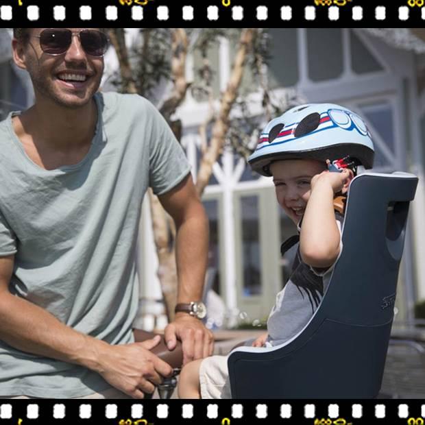 bobike exclusive maxi hátsó kerékpáros gyerekülés biciklin