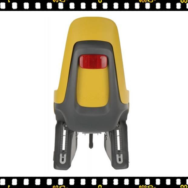 bobike one maxi hátsó kerékpáros gyerekülés mustársárga hátul