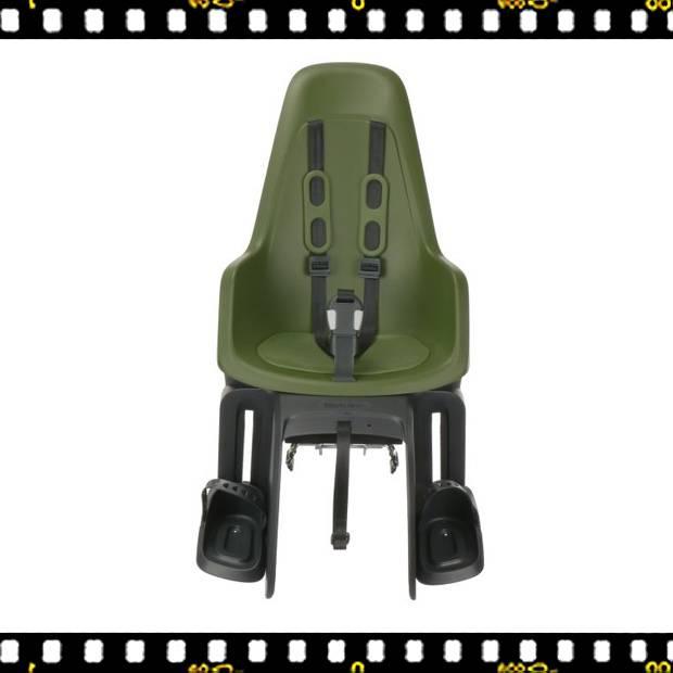 bobike one maxi hátsó kerékpáros gyerekülés oliva zöld előről