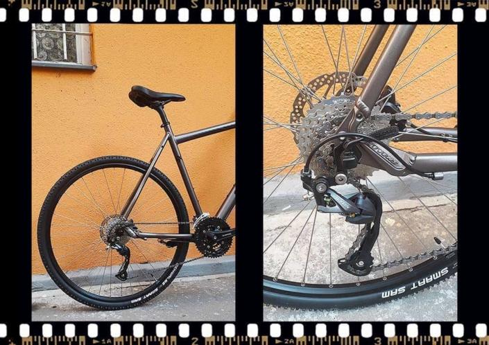 stevens 4x trekking kerékpár hátsó rész