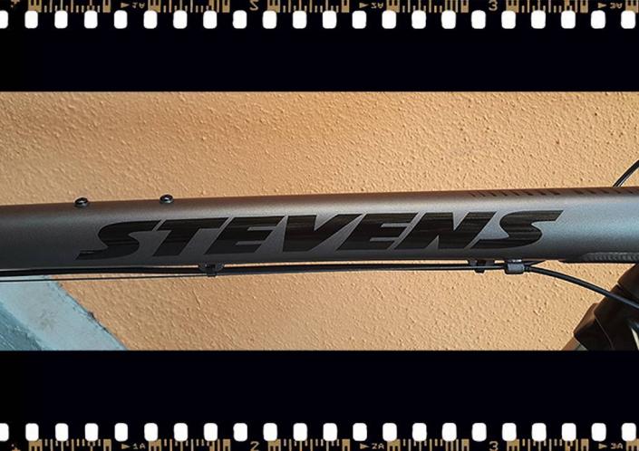 stevens 4x trekking kerékpár váz felirat