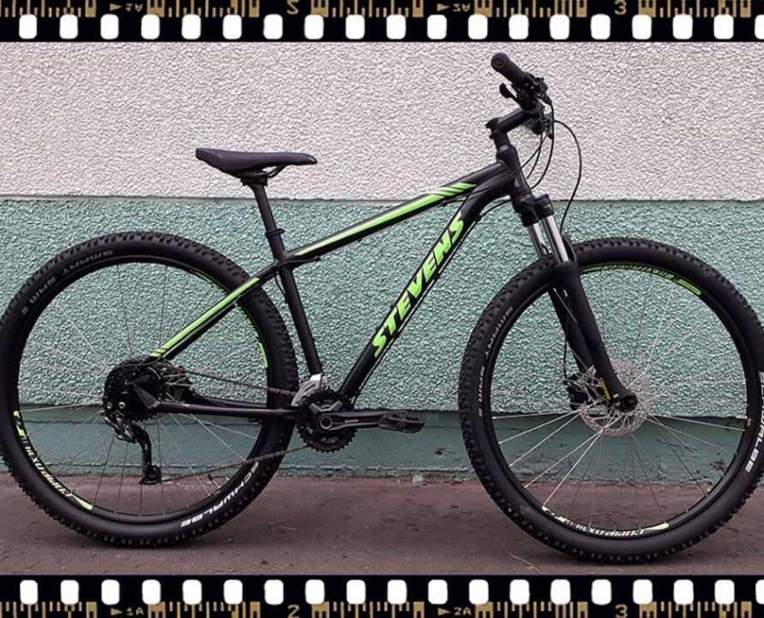 stevens tonga mtb fekete kerékpár alu. váz