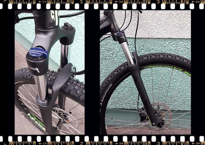 stevens tonga mtb fekete kerékpár első kerék