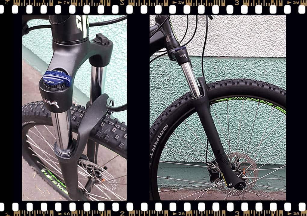 stevens tonga mtb fekete kerékpár teleszkópos