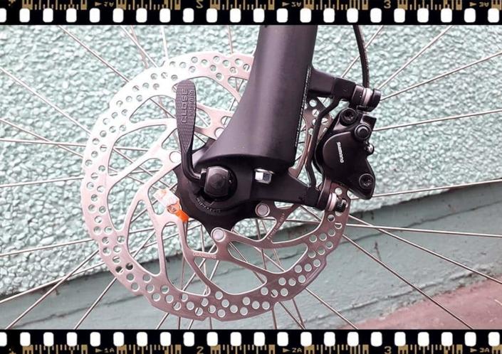 stevens tonga mtb fekete kerékpár első tárcsa