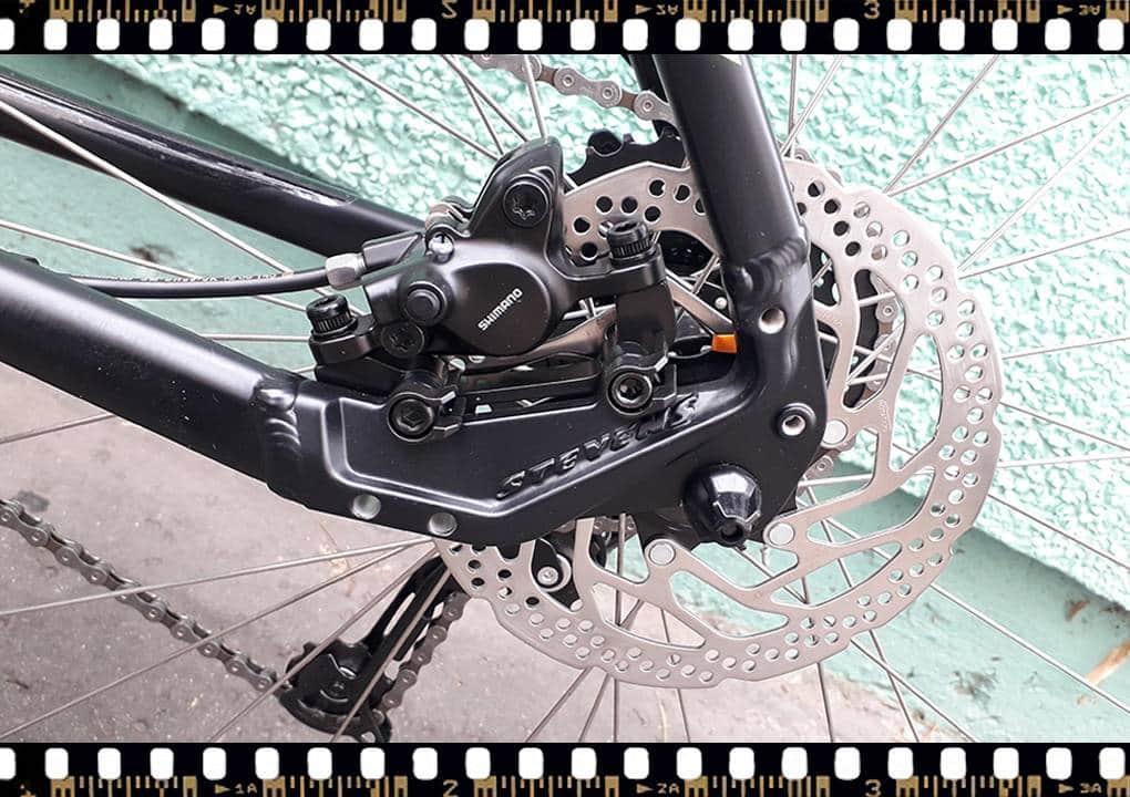 stevens tonga mtb fekete kerékpár hátsó tárcsafék