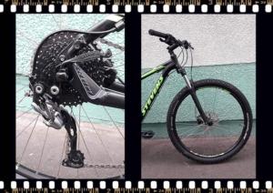 stevens tonga mtb fekete kerékpár hátsó váltó