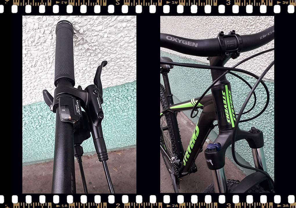 stevens tonga mtb fekete kerékpár váltókar