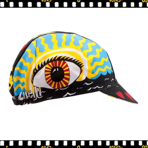 cinelli eye of the storm kerékpáros sapka oldalról