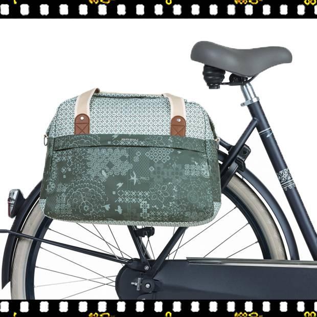 basil boheme carry all zöld bicikli táska biciklin