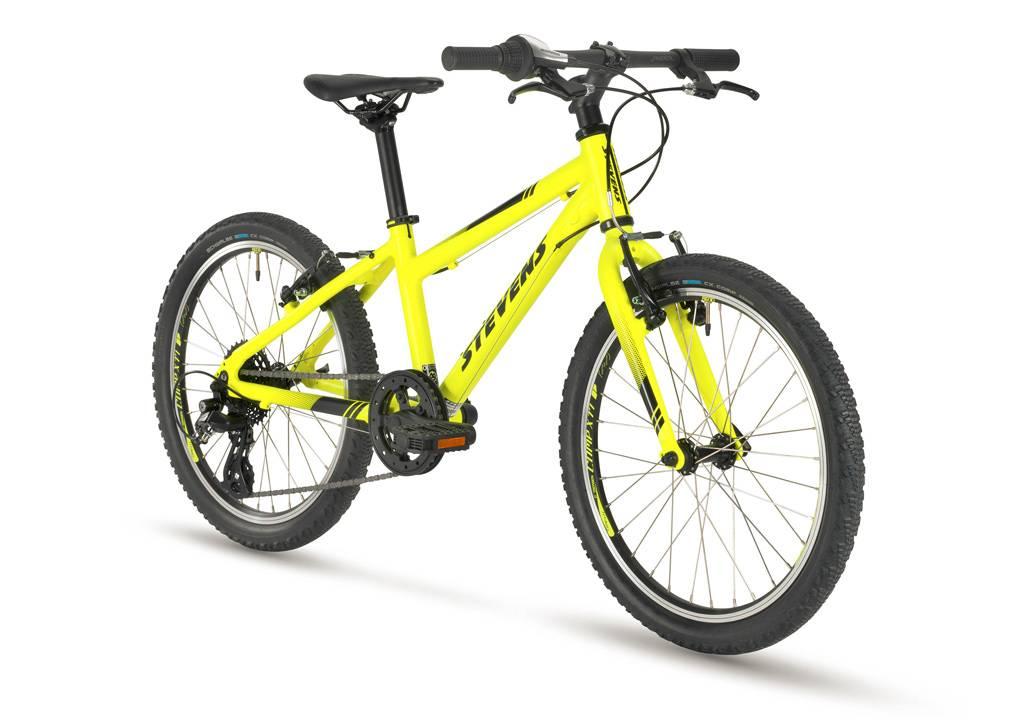 stevesns beat sl 20-as neon sárga gyerek kerékpár elöl
