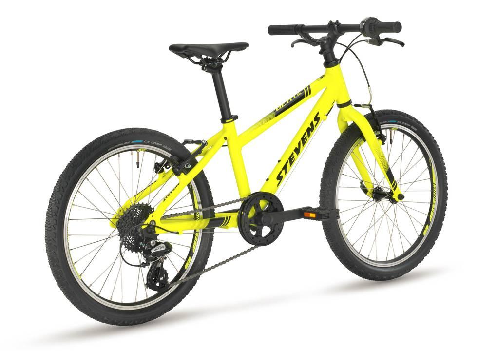 stevesns beat sl 20-as neon sárga gyerek kerékpár hátul