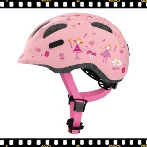 abus smiley hercegnős kerékpáros bukósisak oldalról