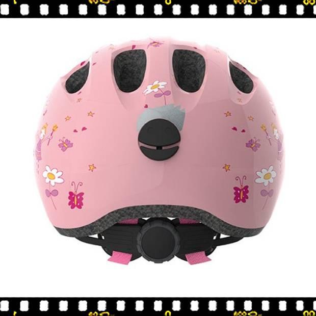 abus smiley hercegnős kerékpáros bukósisak hátulról
