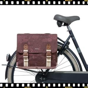 basil boheme dupla bicikli táska bordó biciklin