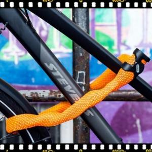 abus ivera narancs biciklis lakat biciklin