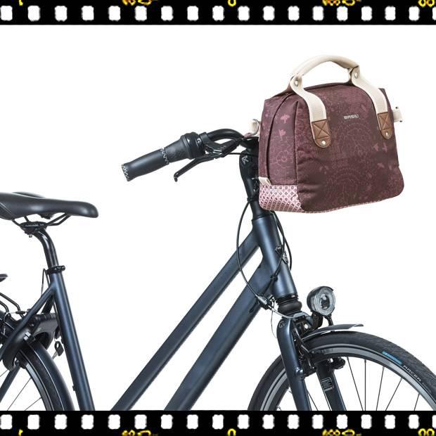 basil boheme city biciklis kormánytáska kerékpáron
